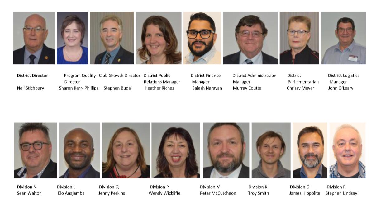 2020 D112 leadership team