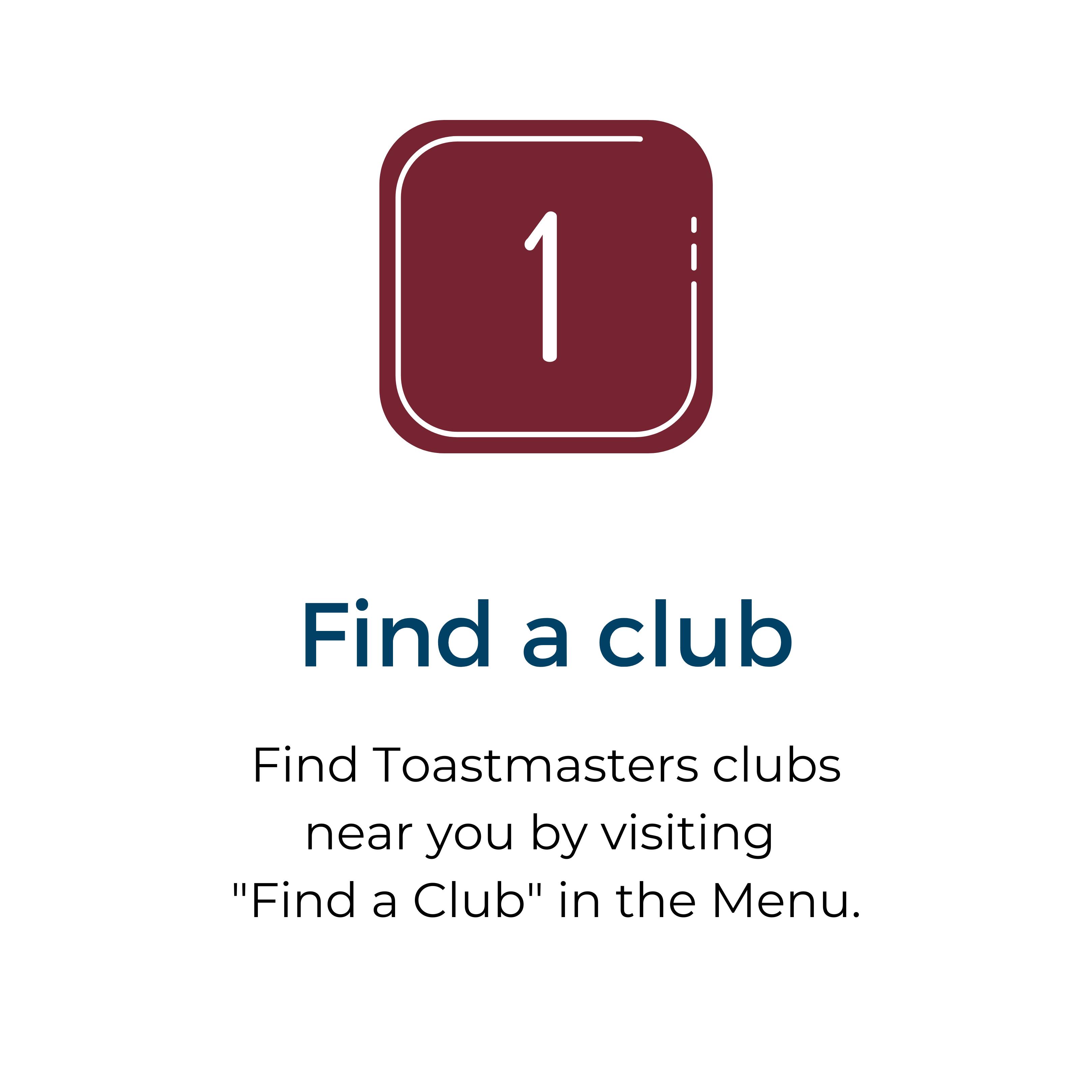 1 Find a club