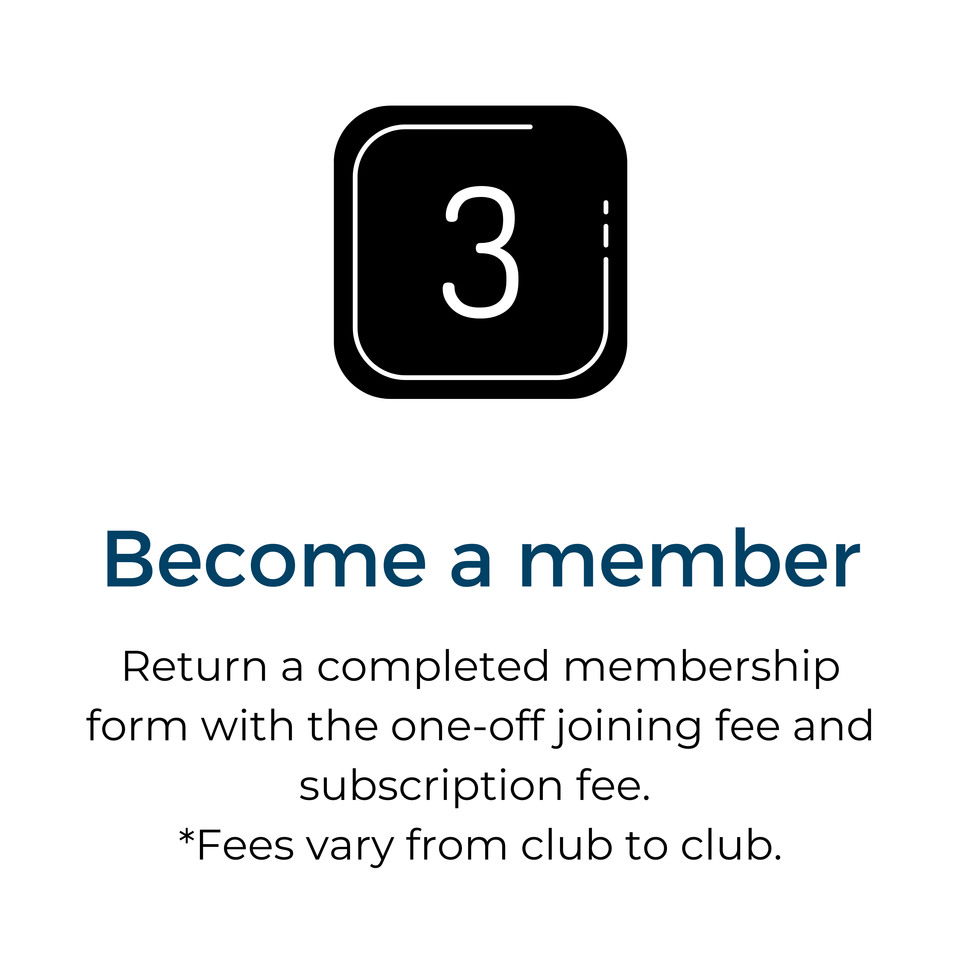 3 Become a member