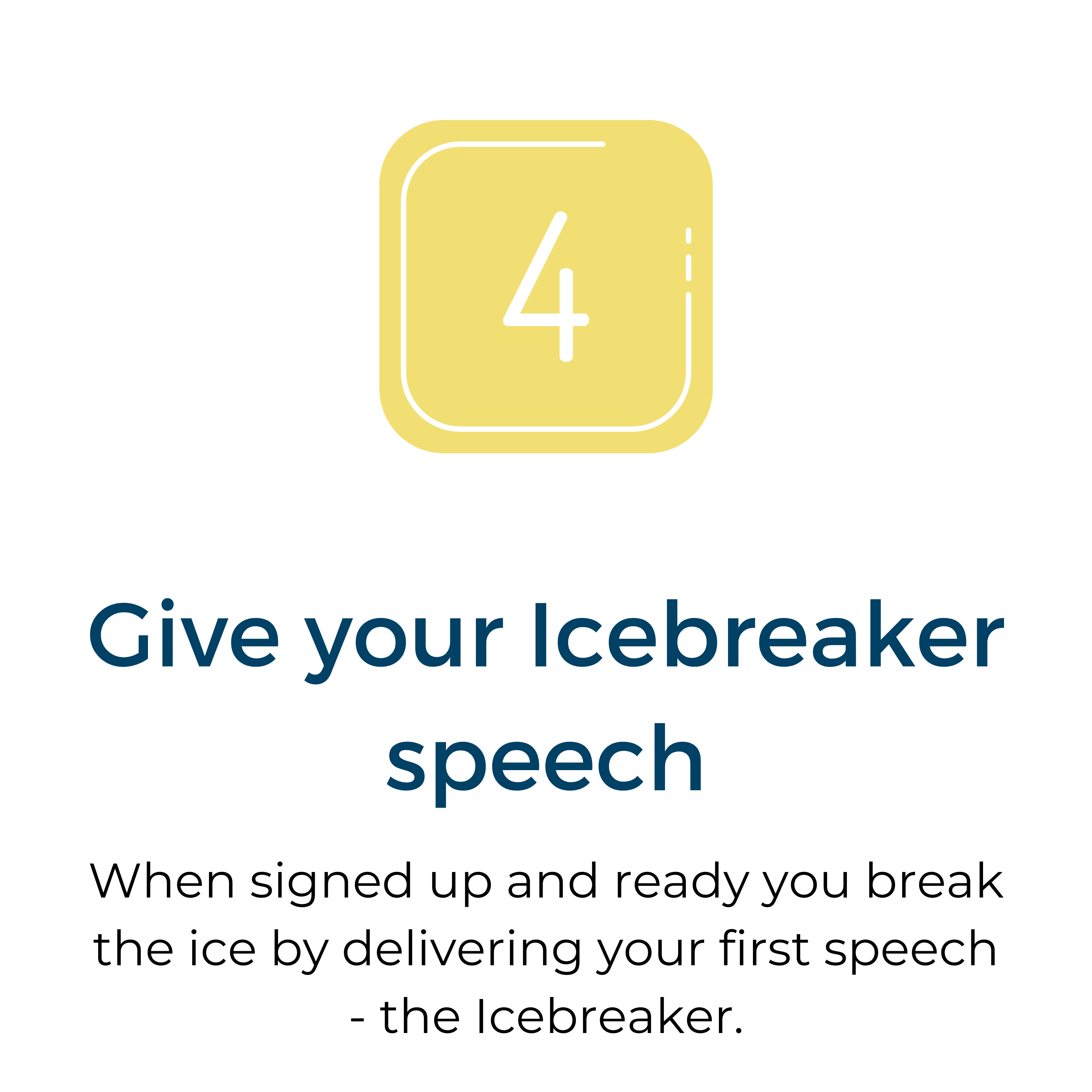 4 Give your Icebreaker