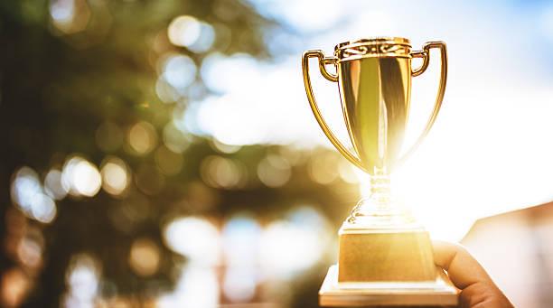 Shiny gilt trophy