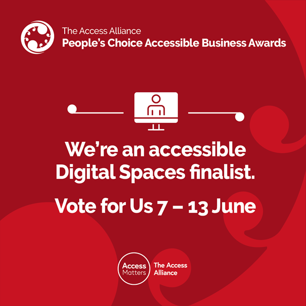 We're an accessible Digital Spaces finalist. Please vote for us.