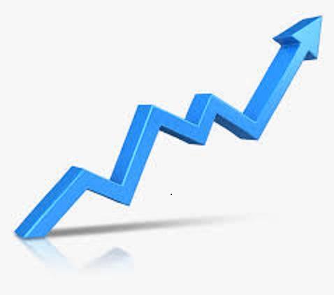 Upward pointing graph